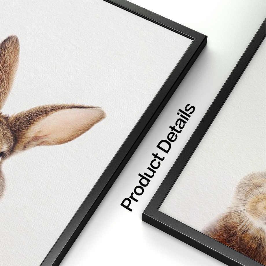 壁アートキャンバス絵画かわいいウサギの動物北欧ポスターやプリントバニー保育園壁写真リビングルームキッズルームの