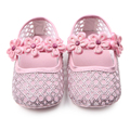 New Cute Princess Baby Girl Shallow Bling Flower First Walker Baby Girl Dress Shoes 0-12 Months