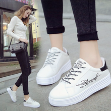 JCYMONG Women Fashion White Casual Platform Solid PU Leather Classic Cotton Letter Print Women Lace-up Spring Summer Sneakers