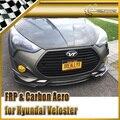 Car-styling Para Hyundai Veloster Turbo NEFD Labio Delantero De Fibra De Carbono 2 unids 2 unidades