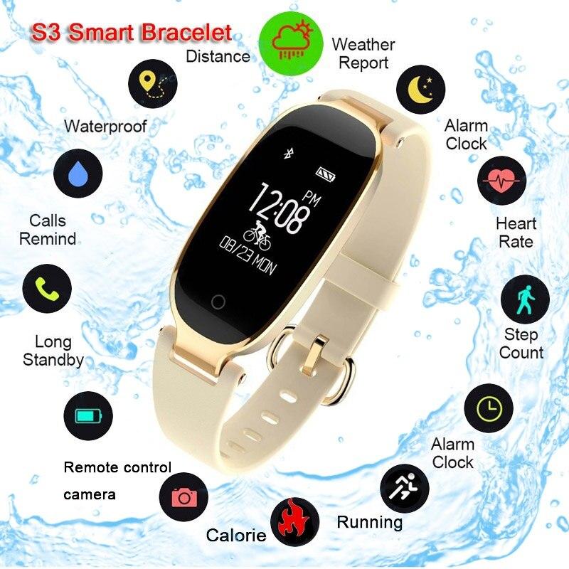 S3 Astuto Della Vigilanza Delle Donne di Modo Orologi montre Frequenza Cardiaca Bluetooth Impermeabile Smartwatch relogio inteligente Per Android IOS relojS3 Astuto Della Vigilanza Delle Donne di Modo Orologi montre Frequenza Cardiaca Bluetooth Impermeabile Smartwatch relogio inteligente Per Android IOS reloj
