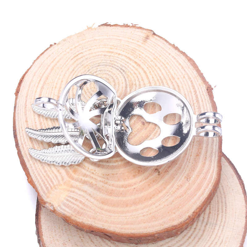 5 sztuk kot łapa Dreamcatcher perła klatka aromat Box medalion wisiorek – biżuteria DIY koralik klatka OLEJEK ETERYCZNY dyfuzor Box dla Oyster perły