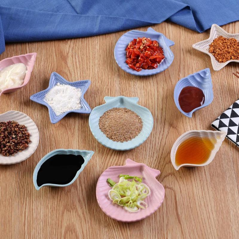 Jerami Gandum Calvings Hidangan Saus Cuka Bumbu Hidangan Multi