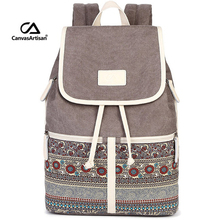 Women Backpack Bag Canvas Korean Back Pack Schoolbag Backpacks for Teenage Girls Travel Rucksack Mochila Escolar