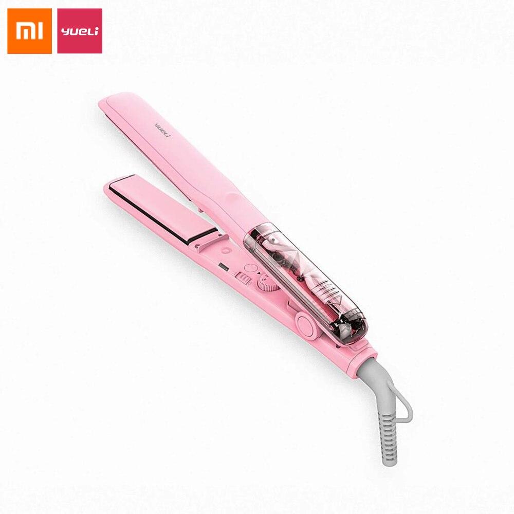 Original Xiaomi Yueli Hot Steam Hair Straightener Professional Hair Care Hair Curler Tool Keratin Coating MCH