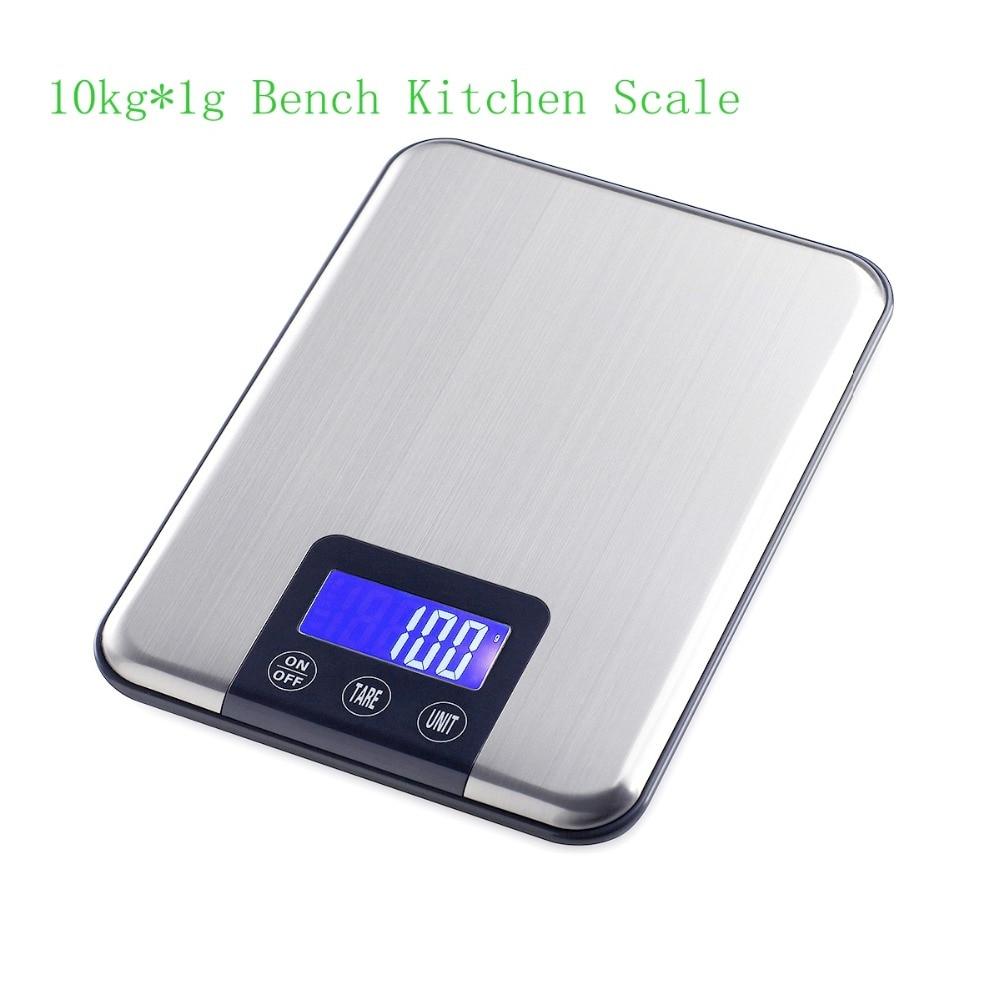10kg 1g tenká nerezová ocel digitální váha 10KG elektronická - Měřicí přístroje - Fotografie 2