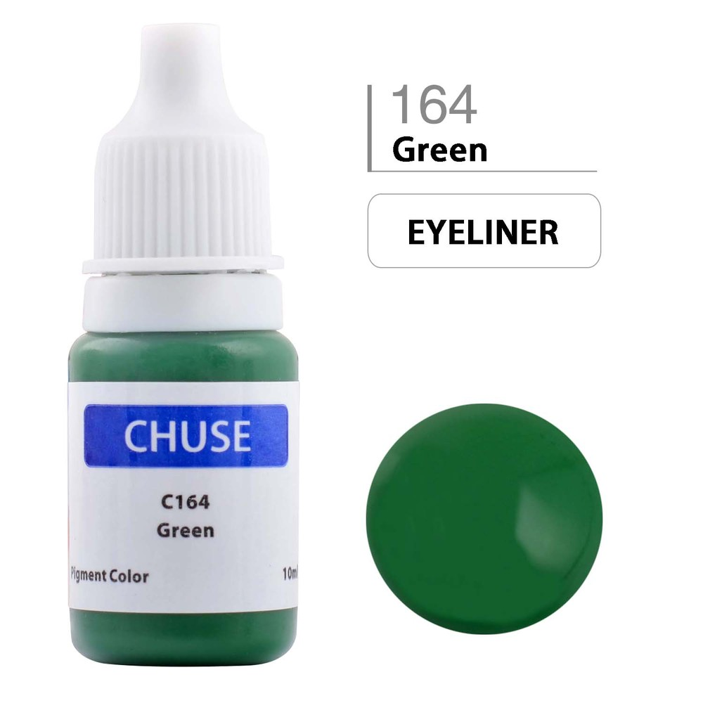 CHUSE C1 Permanent Makeup Ink 6 Colors Professional Tattoo Ink Supply for Eyeliner & Eyeliner Shaded Cosmetic microblading 13