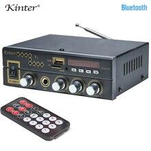 Kinter 2.0CH T1 para bluetooth Amplificador de Potência de áudio com microfone/USB/TF/FM/AUX estéreo jogar controle de som graves agudos volume