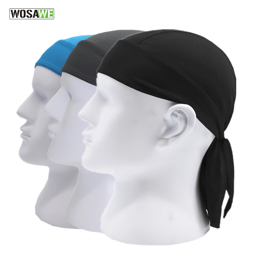 все цены на WOSAWE Quick Dry Pure Cycling Cap Head Scarf Summer Men Running Riding Bandana Headscarf Ciclismo Pirate Hat Hood Headband