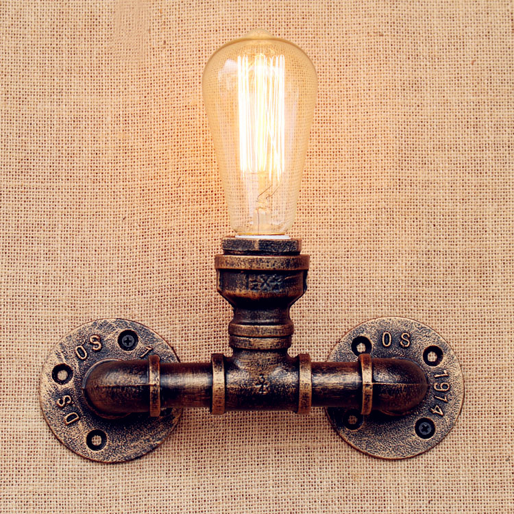 Edison Sconce Water Pipe LED Wall Lights For Home Loft Industrial Lighting Vintage Wall Lamp Stair Light Lampares Apliques LED nordic led wall lamp for bedroom industrial wall sconce home led light vintage wall lamp stair decorative led wall light fixture