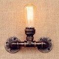Tubulação De Água LEVOU Luzes de Parede Para Casa Loft Edison Arandela Iluminação Industrial Do Vintage Lâmpada de Parede Da Escada Luz Lampares Apliques LEVOU