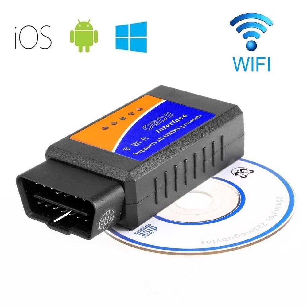 2016 Best Quality ELM327 Wifi Scanner Auto OBD2 Diagnostic Tool ELM 327 WIFI OBDII Scanner V