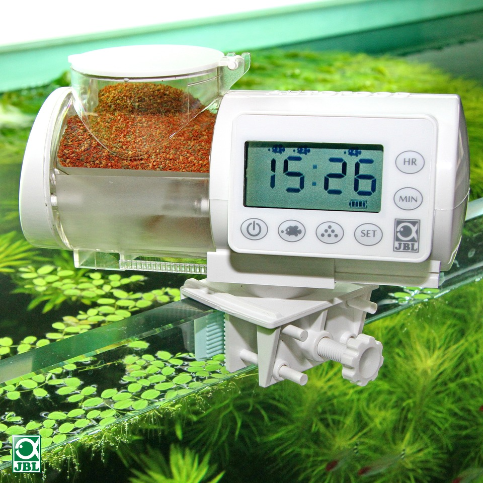 LCD Display JBL AUTOFOOD White Black Automatic Feeder Granule Food Machine for Aquarium Fish Tank-in Filters & Accessories from Home & Garden    1