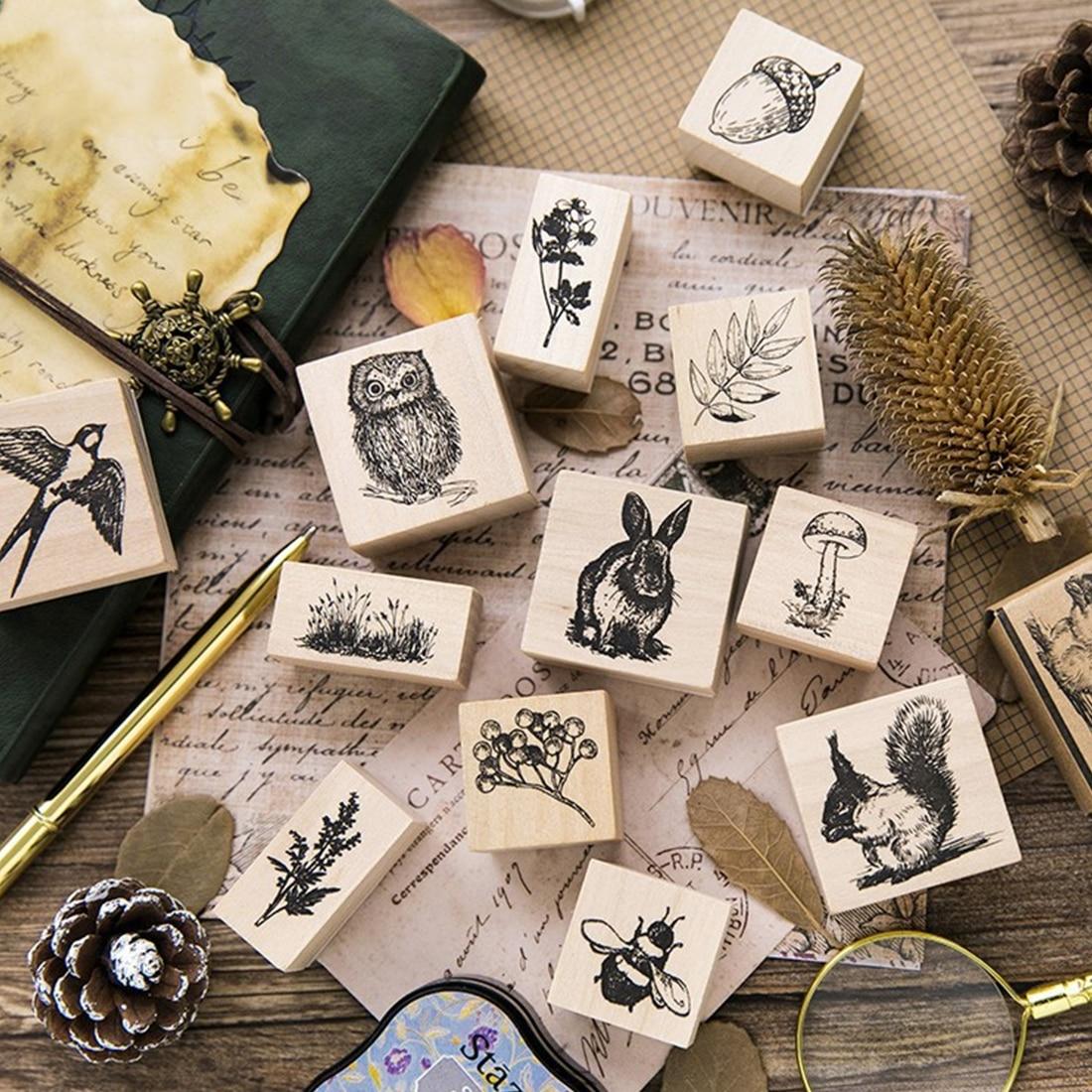 Aliexpress.com : Buy DIY wooden Vintage plant map stamp ...