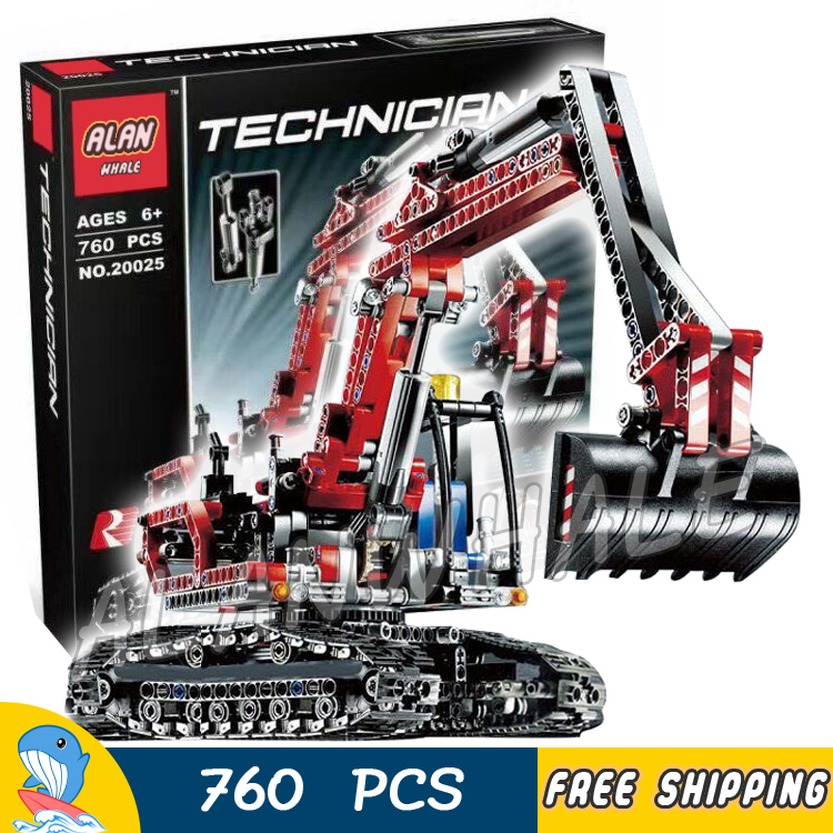 760pcs Techinic 2in1 New Series Excavator Loader 20025 DIY Model Building Kit Blocks Gifts Sets Boys Toys Compatible With lego 760pcs techinic 2in1 new series