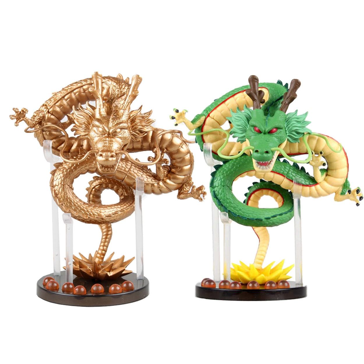 ФОТО Chanycore 16CM 19CM 1PCS/SET Two Style Gold Gree Dragon Ball Z ShenRon Son goku Resurrection 'F' Action Figure PVC toys
