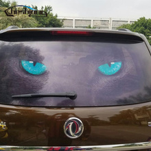 127cmx70cm Perforated Car Rear Window Glass Printed Styling Film Rear Windshield One Way Vision Mesh Film