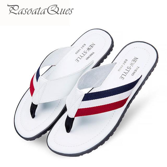 Flip Flop Sandalias de Los Hombres de Verano Zapatos Para Caminatas Casuales Seaside Beach Diapositivas Diseñador de la Marca de Los Hombres Respirables Comfort Flats 2016