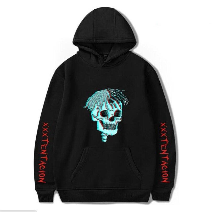 2018 Autumn Hot Sale Hip Hop Hoodies Sweatshirts Raper XXXTentacion Harajuku Suprem Men/madam Cool Casual Hoodies Plus Size 4XL