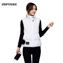 2018 new down cotton waistcoat female autumn winter large size short cotton clothes jacket women sleeveless vest waistcoat