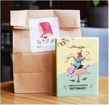 90 sheets/1 set vintage planner stickers kawaii Dictionary post paper scrapbooking stickers/sticky notes/Korea Stationery 7321