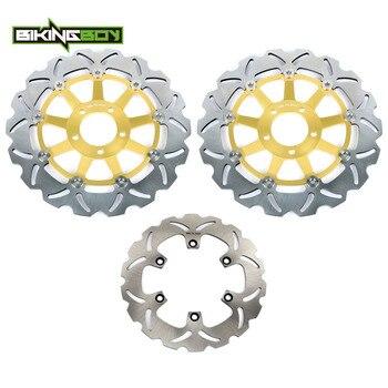 BIKINGBOY Front Rear Brake Discs Rotors Disks for Kawasaki GTR1000 GTR 1000 94 95 96 97 98 99 00 01 02 03 04 05 06 ZG 1000 Set
