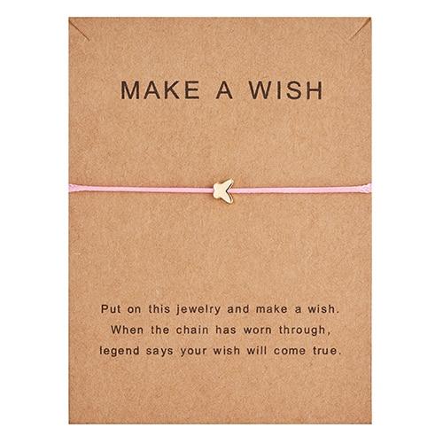 Регулируемый браслет с бумажными карточками в форме бабочки, звезды, короны, Круглый тканый браслет ручной работы, Простые Модные женские ювелирные изделия, подарки - Окраска металла: 3