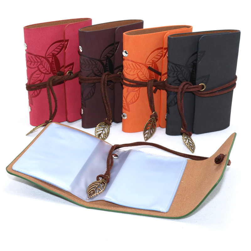 1 Pcs Fashion Leather Function 20 Bits Card Case Business Card Holder Men Women Credit Passport Card Bag ID Passport Card Wallet