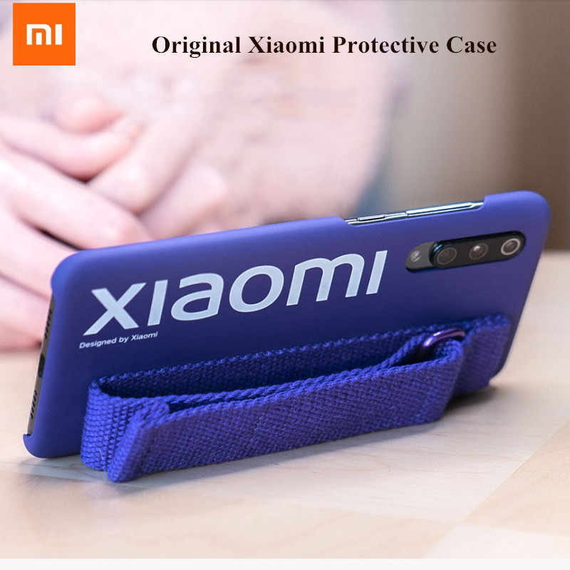 Originele Xiao mi mi 9 9se case hard Case Pc Polsband BEUGEL cover protector Mi Nimalism polyester back Cover case Voor mi 9 9 se