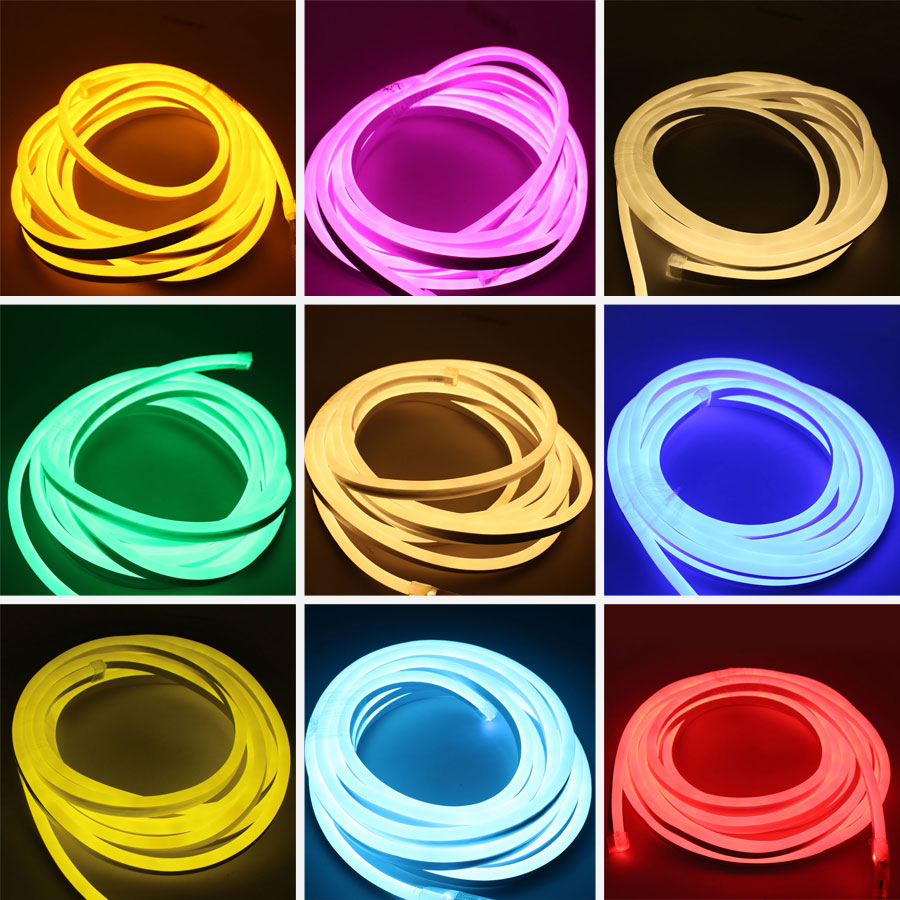 RGB 220V LED Strip Light Waterproof 2835 Lamp 5m 20m 100m 220 V LED Strip 220V Neon Green Tape Lamp Outdoor LedStrip Lighting