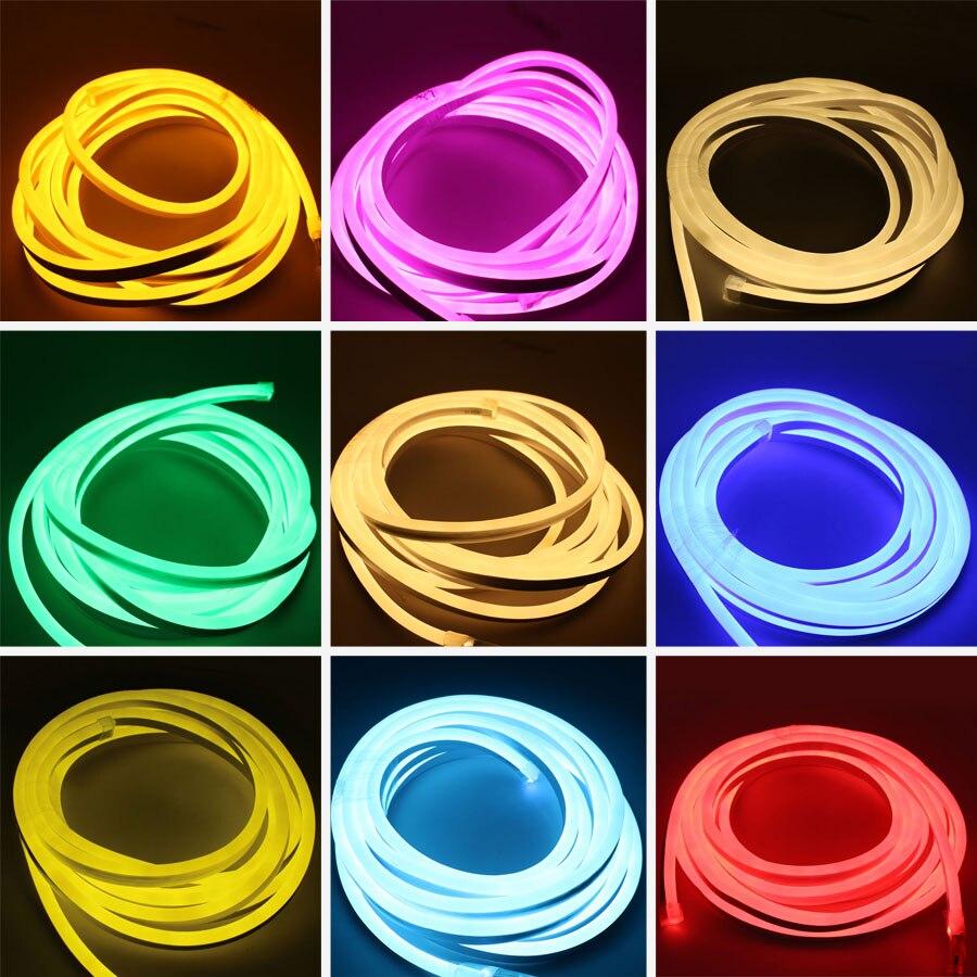 Tira de luces LED RGB de 220 V, lámpara impermeable de 2835, 5m, 20m, 100m, 220 V, tira LED de 220 V, lámpara de cinta verde neón, iluminación de tira LED para exteriores Controlador LED RGB para hogar mágico, controlador LED de cc 12V y 24V para tira de LED RGB de 5050, aplicación para teléfono iOS y Android, Control por voz de Alexa y Google