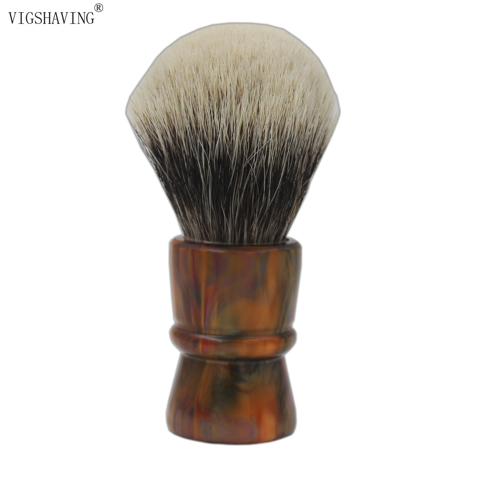 30mm Knot Colorful  Resin Handle Finest Badger Hair  Shaving Brush for Barber Shave Tool their finest