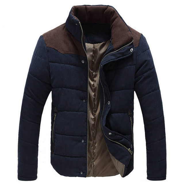 98cc24401 Warm Winter Jackets for Men Wadded Parkas Campera Hombre Invierno 2018  Autumn Slim Fit Men's Cotton-padded Jacket Coat