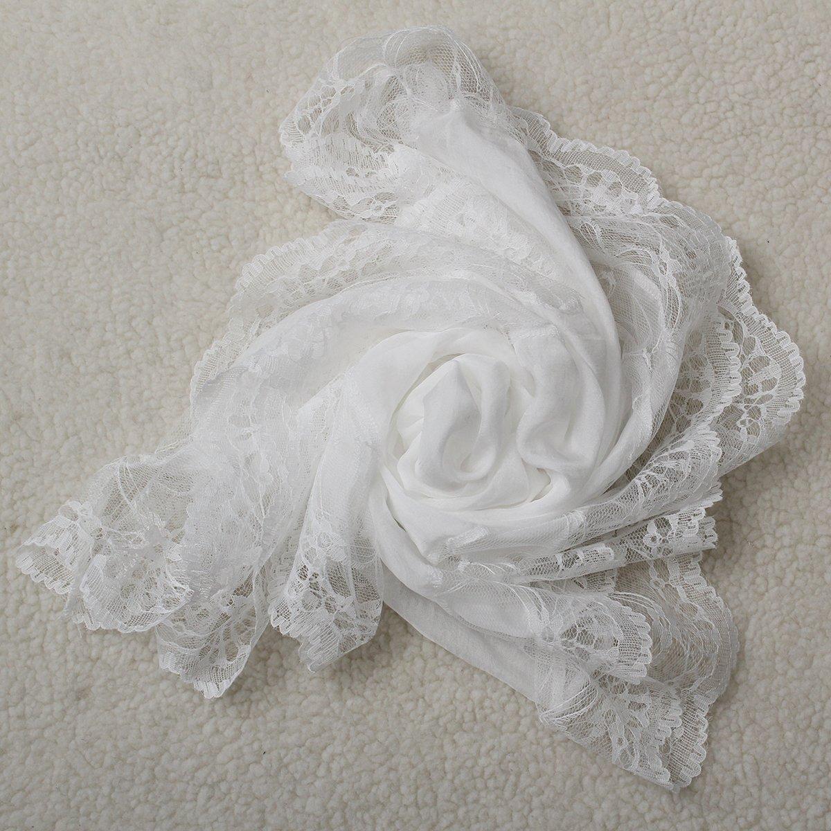 TKOH Woman   Scarves   Chiffon Lace   Scarf     Wrap     Scarf   white