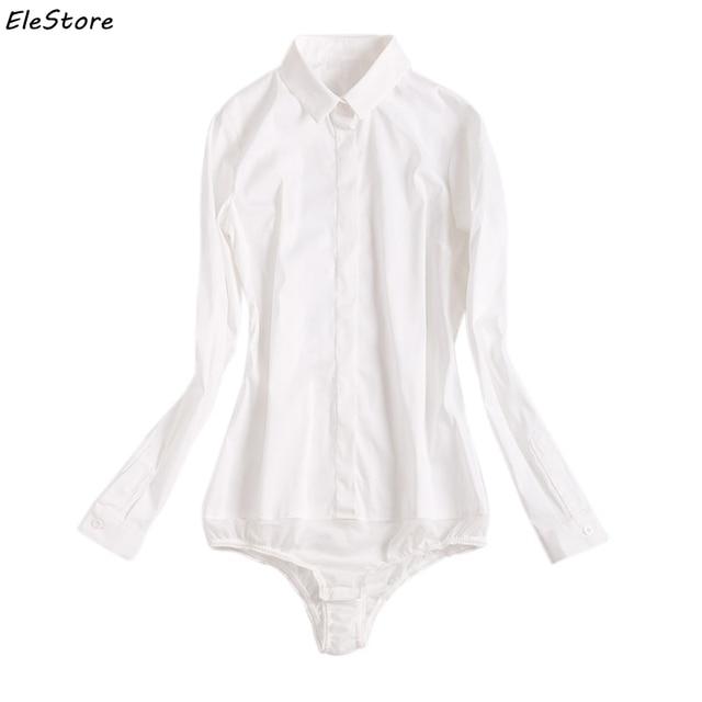 Chemise Body Femmes Blusas Hauts Blouses Longues Chemises Blanc Blouse À Manches Décontracté Blusa 2018 SVpMzU