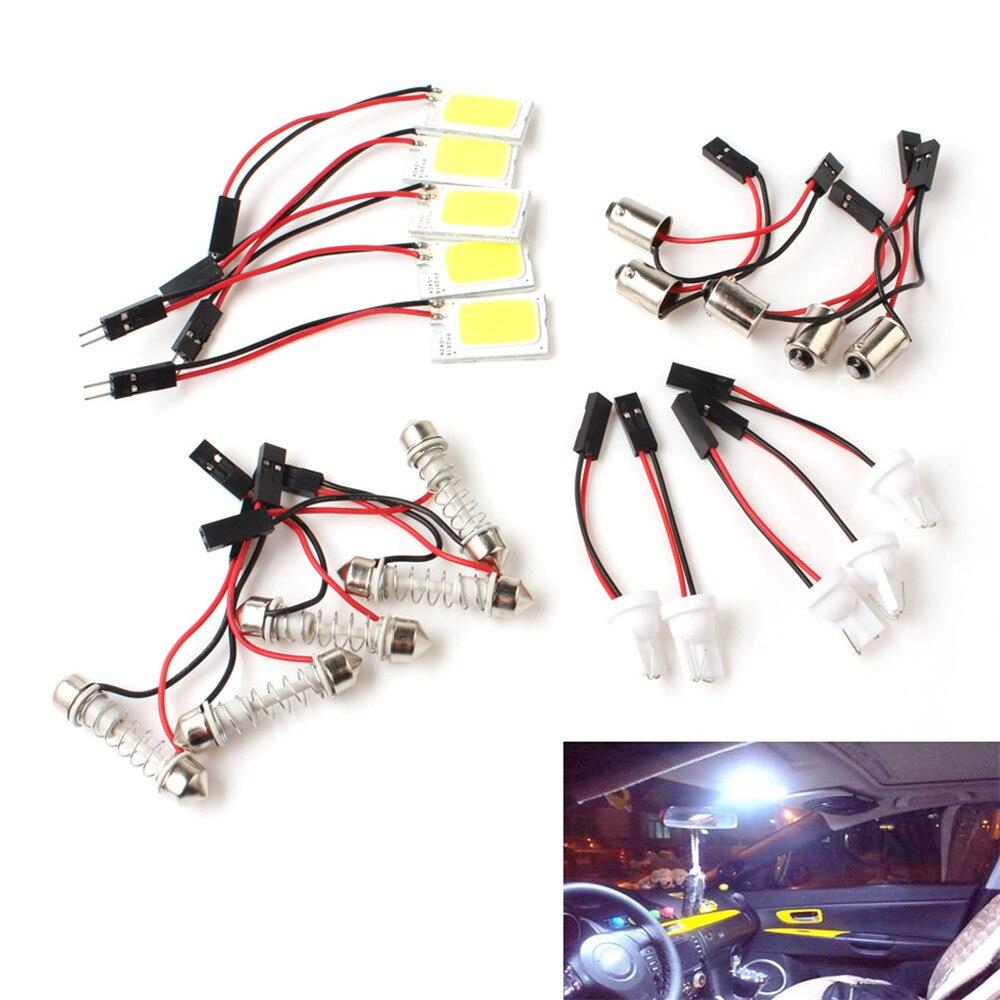 5PCS Easy Installation Bright White COB 18-LED Chips 12V Plate T10 Festoon Dome Car Interior Light Bulb inpower pro 11 5 crack unlimited installation