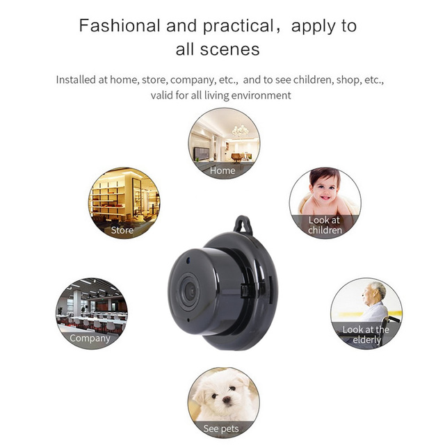 Wsdcam Home Security MINI WIFI 1080P IP Camera Wireless Small CCTV Infrared Night Vision Motion Detection SD Card Slot Audio APP 2