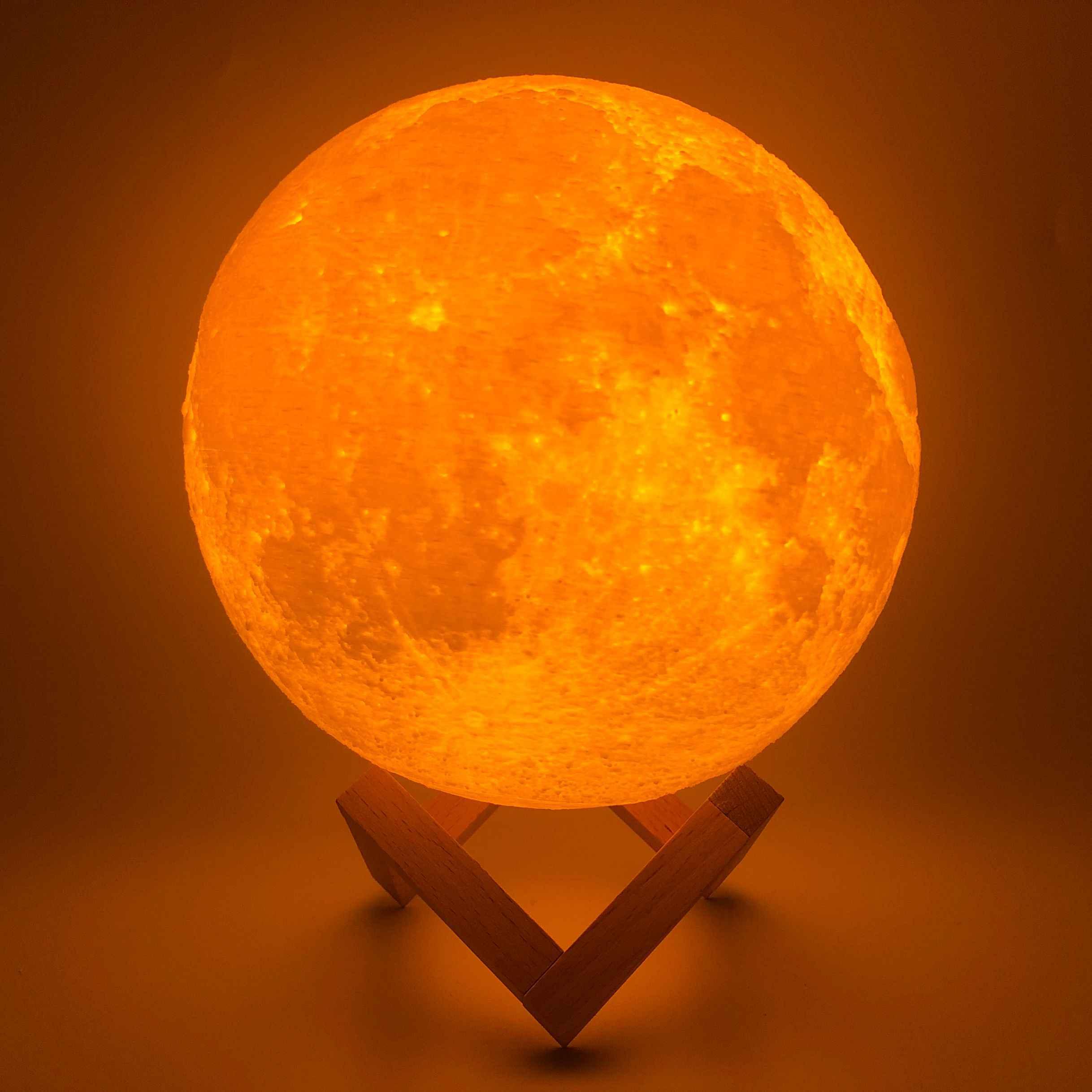 3D печать луна лампа 20 см 18 см 15 см красочные изменения сенсорный USB привод ночник украшения вашего дома подарок творческий