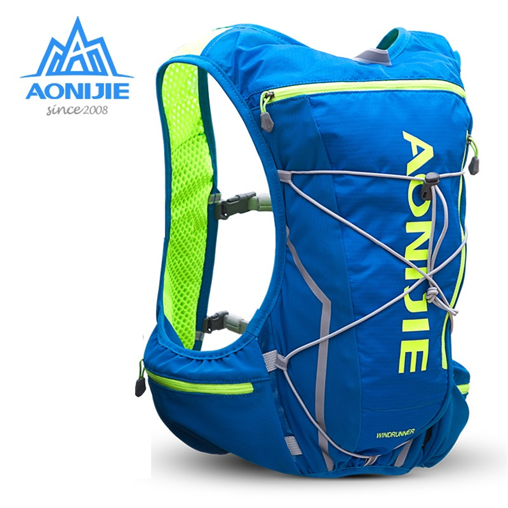 AONIJIE 10L Women Men Marathon Hydration Vest Pack with 2L Water Bladder Cycling Hiking Bag Outdoor Sport Bag Running Backpack aonijie outdoor water bag 1 5l 2l 3l for camping hiking climbing cycling running foldable peva sport hydration bladder
