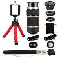 8X Zoom Telephoto Lentes Wide Angle Macro Fish Eye Fisheye Lenses For Smartphone Cell Phone Lens