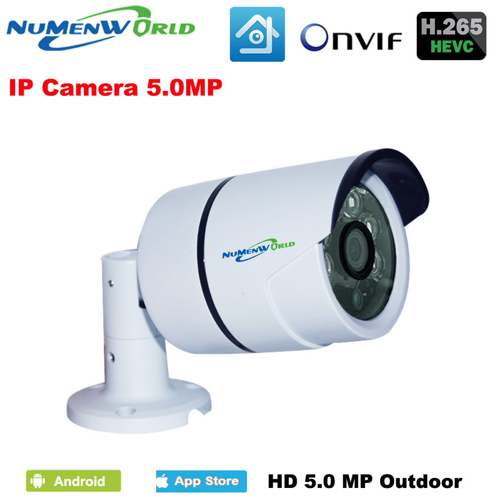 Waterproof XMeye H.265/H.264 Security Camera IP 5MP Mini Bullet IP Camera Outdoor 5MP ONVIF 5 Megapixel Camera IR Cut Filter P2P image