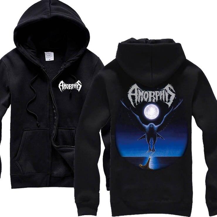 5 designs Harajuku Zipper Sweatshirt Amorphis Rock sudadera hoodies winter shell jacket death metal tracksuit brand clothing sweatshirt