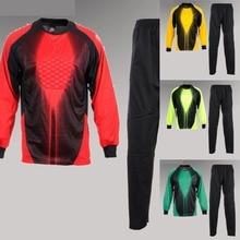 634599bffe0 Goalkeeper triseven Soccer Jersey Sets 4 Colors Training kit Porteros ropa  Football Shirts Custom Design Style