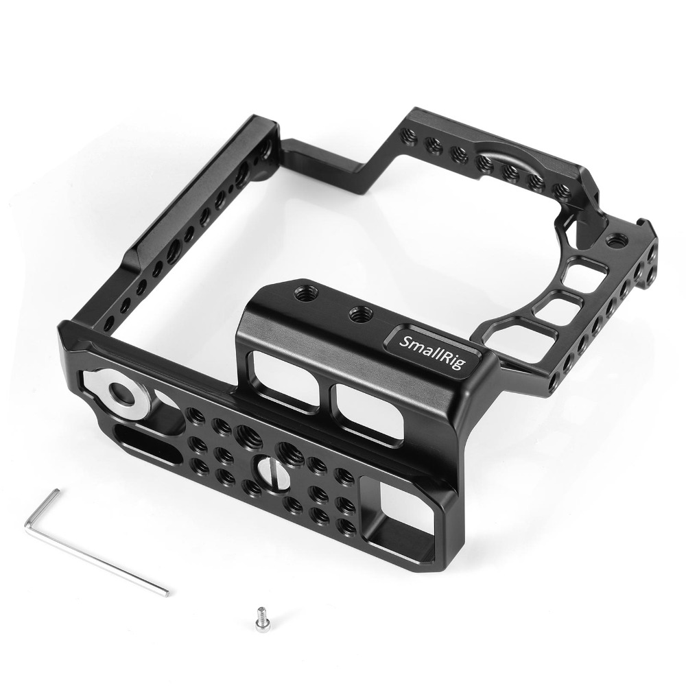 SmallRig A6400 Cage DSLR Camera Cage for Sony A6000/A6300/A6400/A6500 with Meike MK A6300/A6500 Battery Grip 2268-in Camera Cage from Consumer Electronics    3