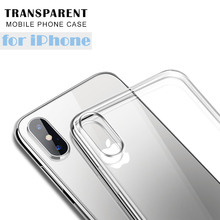 Clear Silicon Ultra Thin Soft TPU Case For 7 7Plus 8 8Plus X Transparent Phone Case For iPhone 5 5s SE 6 6s 7 Plus 6sPlus X Case rock ultra thin tpu soft case for iphone 7plus transparent black