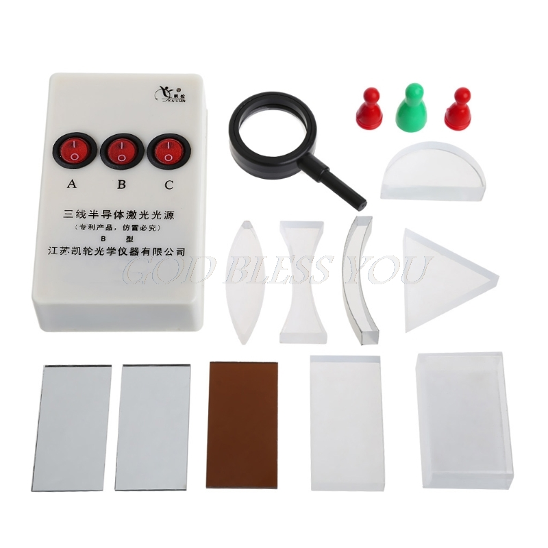 Optical Concave Convex Lens Prism Set Physical Optical Kit Laboratory Equipment electrical equipment aot500 optical talk set two parts communication 120km dynamic range 1310