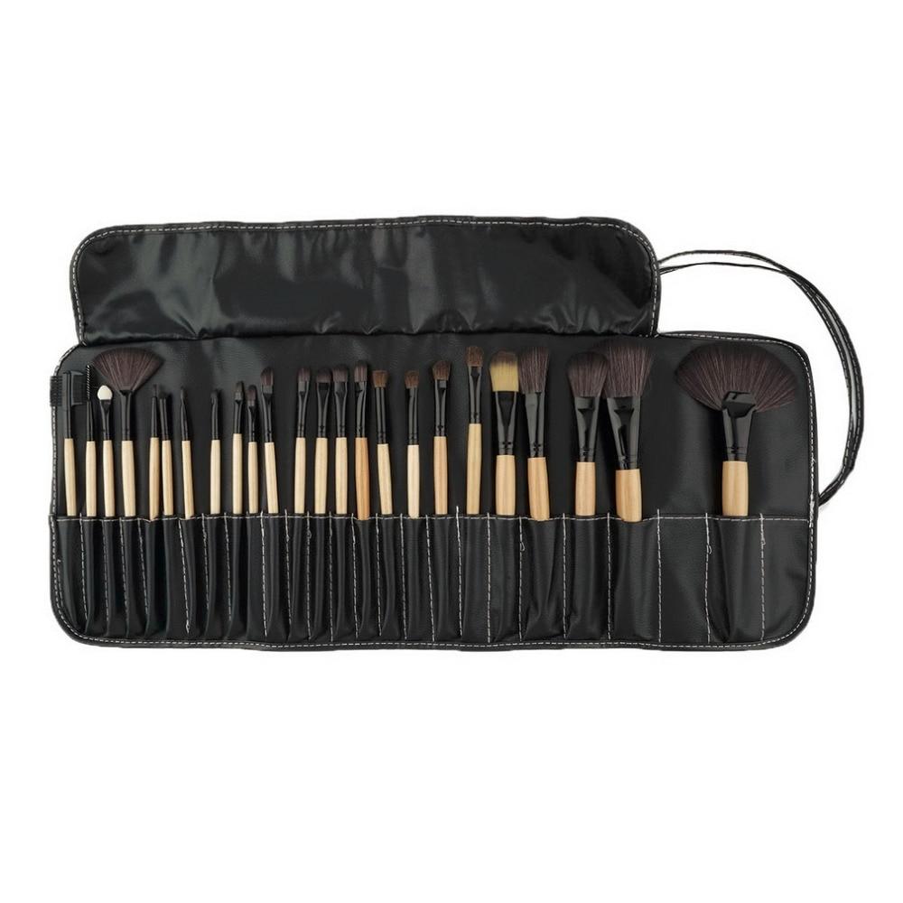 цена на Professional 24 pcs Makeup Brush Set tools Make Up Toiletry Kit Wool Brand Make Up Goat Hair Brushes Set Pinceaux Maquillage