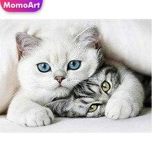 MomoArt 5D Diamond Painting Cat Full Drill Embridery Square Rhinestone Mosaic Animal Art
