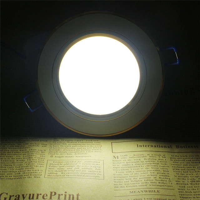 Grille Lights 7W LED Ceiling Lamp Round Aluminum Ceiling Recessed Downlight High Brightness Energy Saving Led with Led Driver