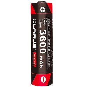 Image 2 - 2pcs KLARUS 18650 3600mAh 18GT 36 3.6V  Li ion Battery high performance 18650 li battery